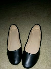 pair of black leather flats Gaithersburg, 20877