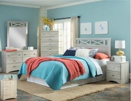Cottage gray bedroom set