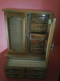 Miusical brown wooden dresser with mirror Laval, H7N 5X6
