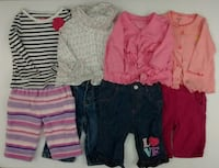 (117) Baby clothing for girls 0-24 months