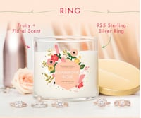 Charmed Aroma Champagne Rose Candle with Ring Langley, V2Y 0E8