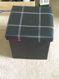 black leather ottoman with storage Newport News, 23608