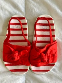 Toddler girl size 8 Janie and Jack red sandals Trumbull, 06611