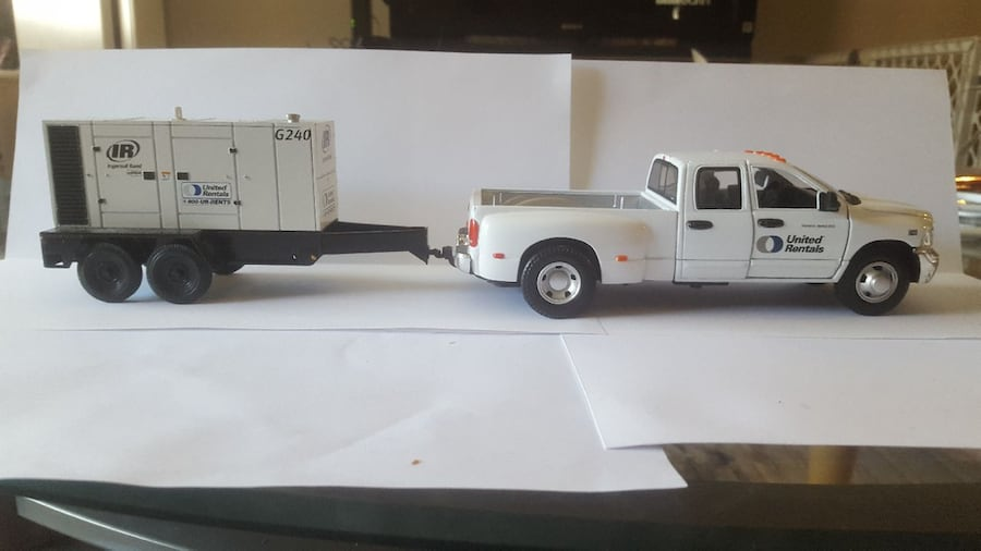 Dodge Ram 3500 with trailer 1