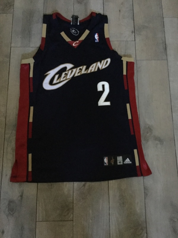 the best attitude fe323 448b7 Blue, red, and beige Kyrie Irving 2 Cleveland Cavaliers jersey size 40