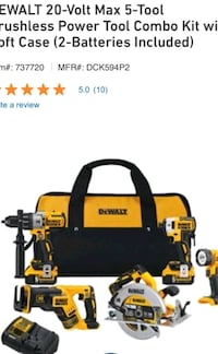 Dewalt power tool combo kit Toronto, M8Y 2S9
