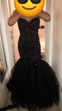 Prom dress black size small / medium