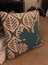 brown, white, and blue leaf print throw pillow Kissimmee, 34744