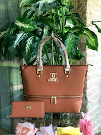 brown leather Michael Kors tote bag Falls Church, 22042
