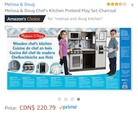 Melissa and Doug kitchen in excellent shape with lots and pans Burnaby, V5J