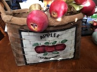 Large painted apple basket Joplin, 64804