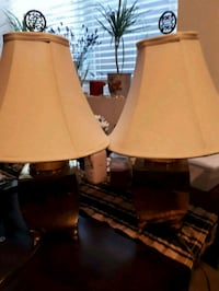 Set of beautiful gold lamps with asian designs.  Surrey, V3S 9R1