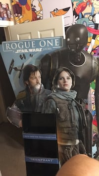 Star Wars Rogue One cardboard cutout and display.  Las Vegas, 89122