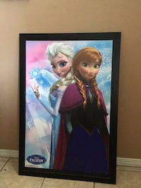 Framed frozen picture
