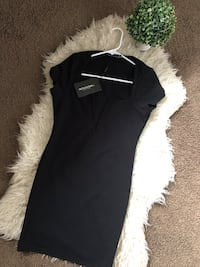 @PrettyLittleThing Black Cocktail Dress - Perfect for Christmas Delta, V4C 2K4