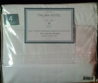 white Italian hotel new bed sheets 6pcs set Frederick