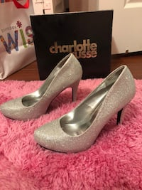 pair of gray platform stilettos Dania Beach, 33312