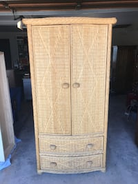 Wicker armoire / wardrobe cabinet with drawers Colorado Springs, 80917