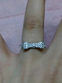 Brand New 925 Sterling Silver Bow Ring