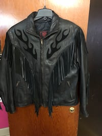 Size Large leather jacket with amazing details Niagara Falls, L2G 2R7