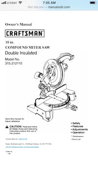 Craftsman Compound Miter Saw Alexandria