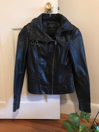 black leather zip-up jacket Washington, 20001
