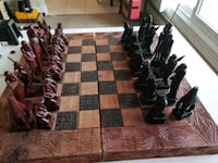 African Handcarved Wooden Chess Set Intricate  Calgary, T2R 0S8