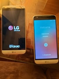 Two LG G5 cell phones in 10/10 condition