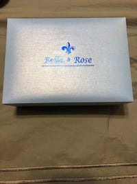 white and blue floral print box 891 mi