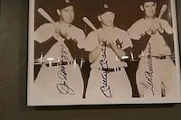 Autographed baseball photo Leicester, 01542