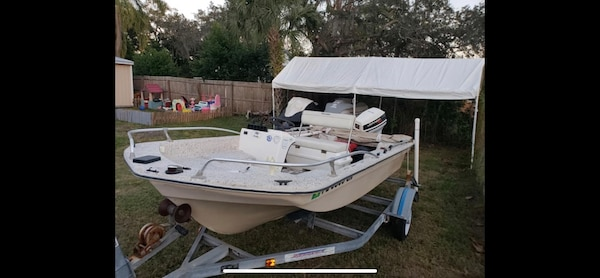 14ft Side Console W 40hp Johnson Runs Great Tows Great Looks Great Awesome Boat And Priced To Sell