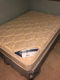 Full size bed mattress, spring box, and frame Minneapolis, 55418