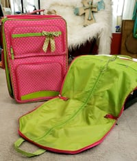 large cute pink luggage / suitcase with garment bag Tomball, 77377