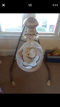 baby's white and gray cradle and swing North Providence, 02904