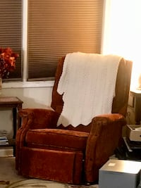 Velvet recliner and sewing machine table