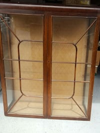 brown wooden framed glass cabinet 3812 km