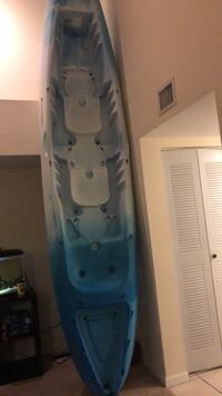 Blue/ white double Kayak (paddles, seats, and life vests included ) West Palm Beach, 33409