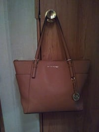 brown Michael Kors leather tote bag Hephzibah, 30815