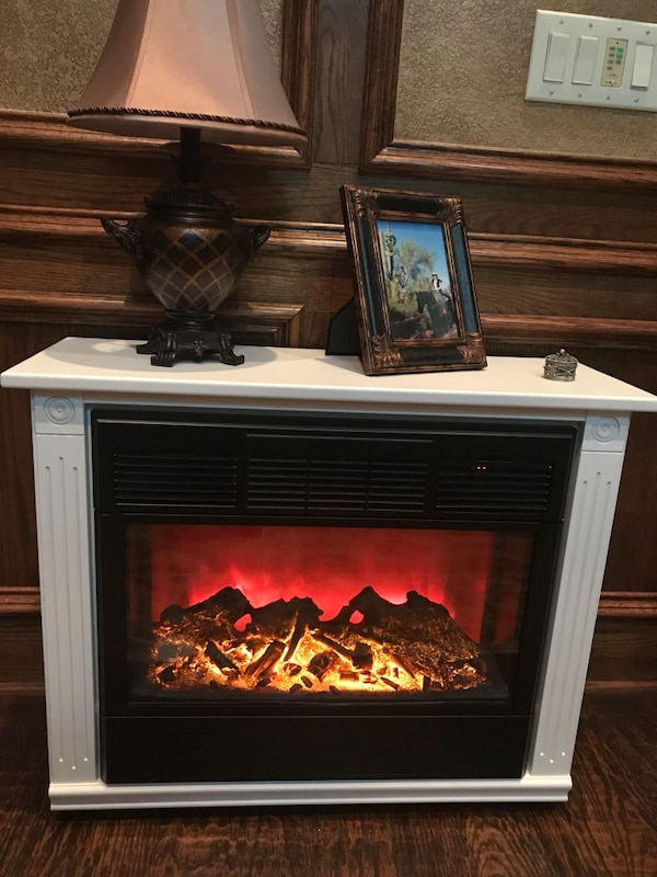 Used Solid Wood Amish Made Electric Fireplace For Sale In Plano