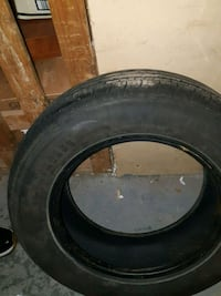 black auto wheel with tire Laval, H7G 3H4