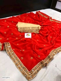 red and silver floral long sleeve dress Delhi