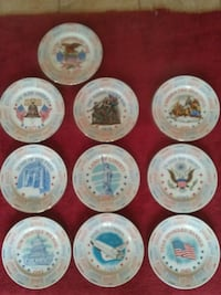Independence Day plates (10) Drums, 18222