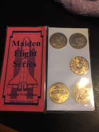 "Solid bronze space shuttle ""maiden voyage series coins"""