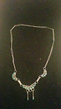 Native America sterling silver necklace  with Turquoise  Hyattsville, 20784