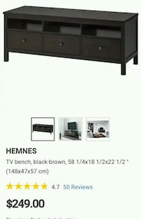 Hemnes Ikea TV Table Storage Bench Ottawa, K1G 4E2