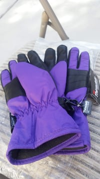 Brand new womans purple gloves (medium-large)