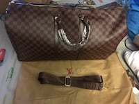 brown and black Louis Vuitton leather tote bag Sacramento, 95823