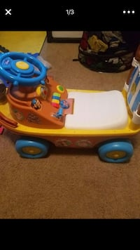 toddler's yellow and multicolored ride-on toy screenshot