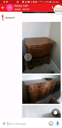 brown wooden cabinet with mirror Columbia