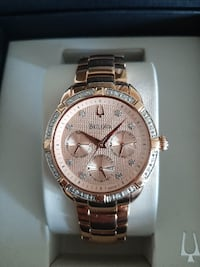 Bulova 98R178 Diamond Rose Gold Watch Toronto